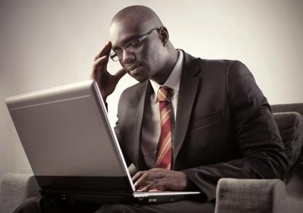 black man working'